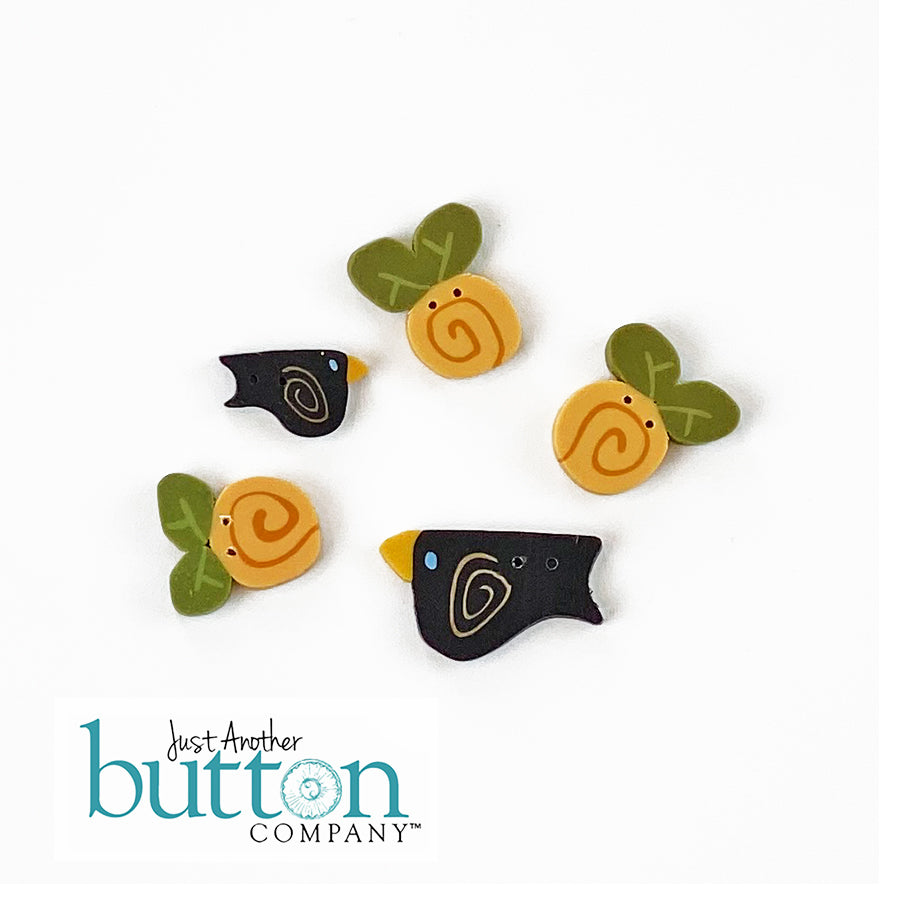 JABC - handmade buttons for LHN Bountiful Harvest