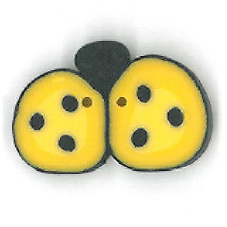 medium yellow ladybug
