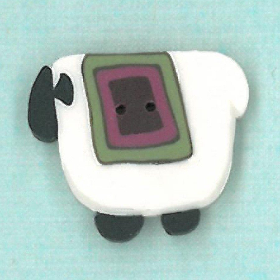 wooly pink quilt sheep