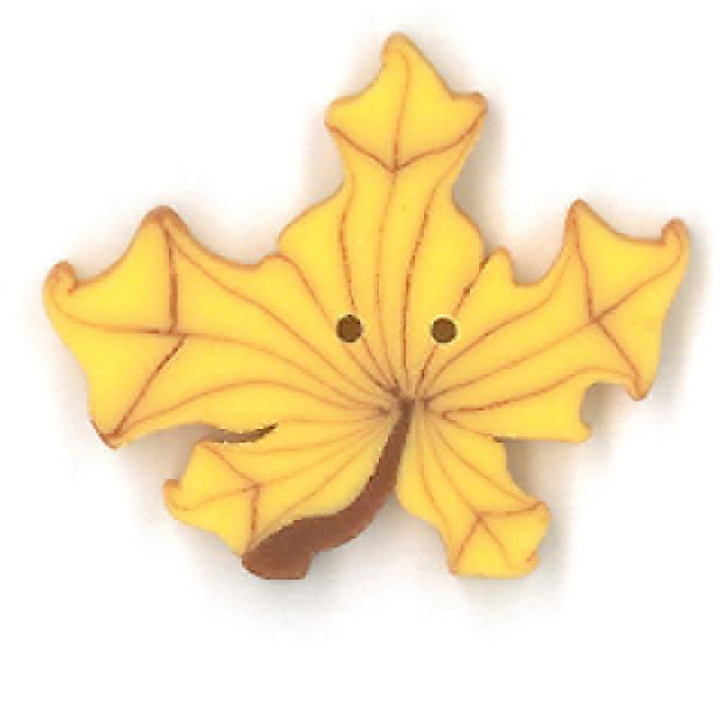 large yellow maple leaf