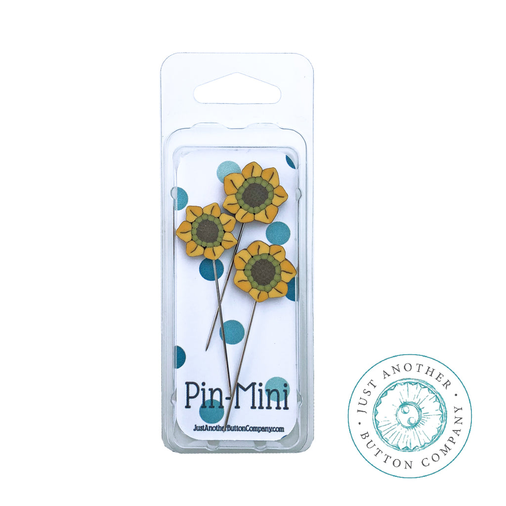 Pin-Mini: 3 Sunflowers