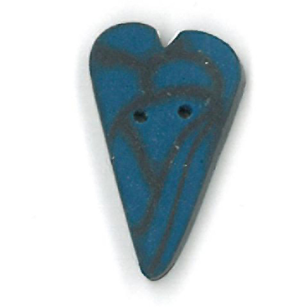 medium blue velvet heart