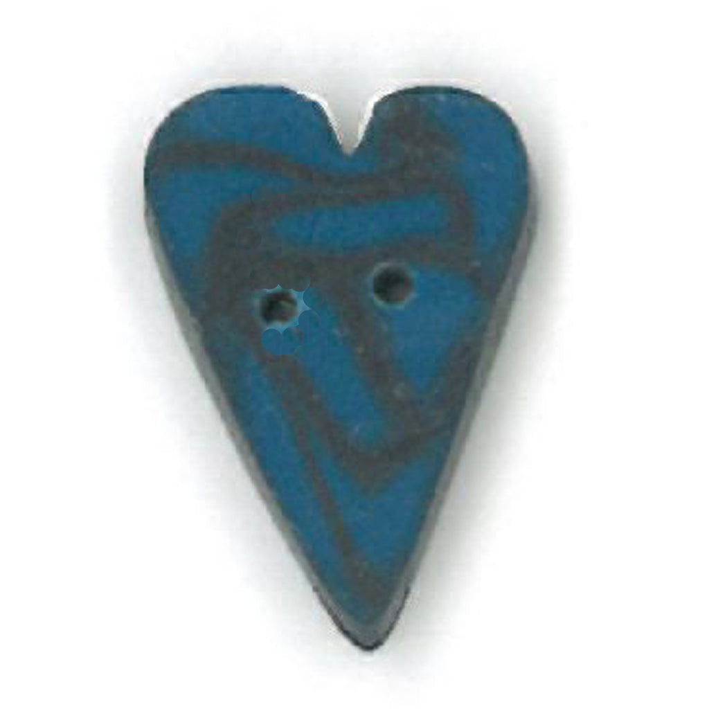 small blue velvet heart