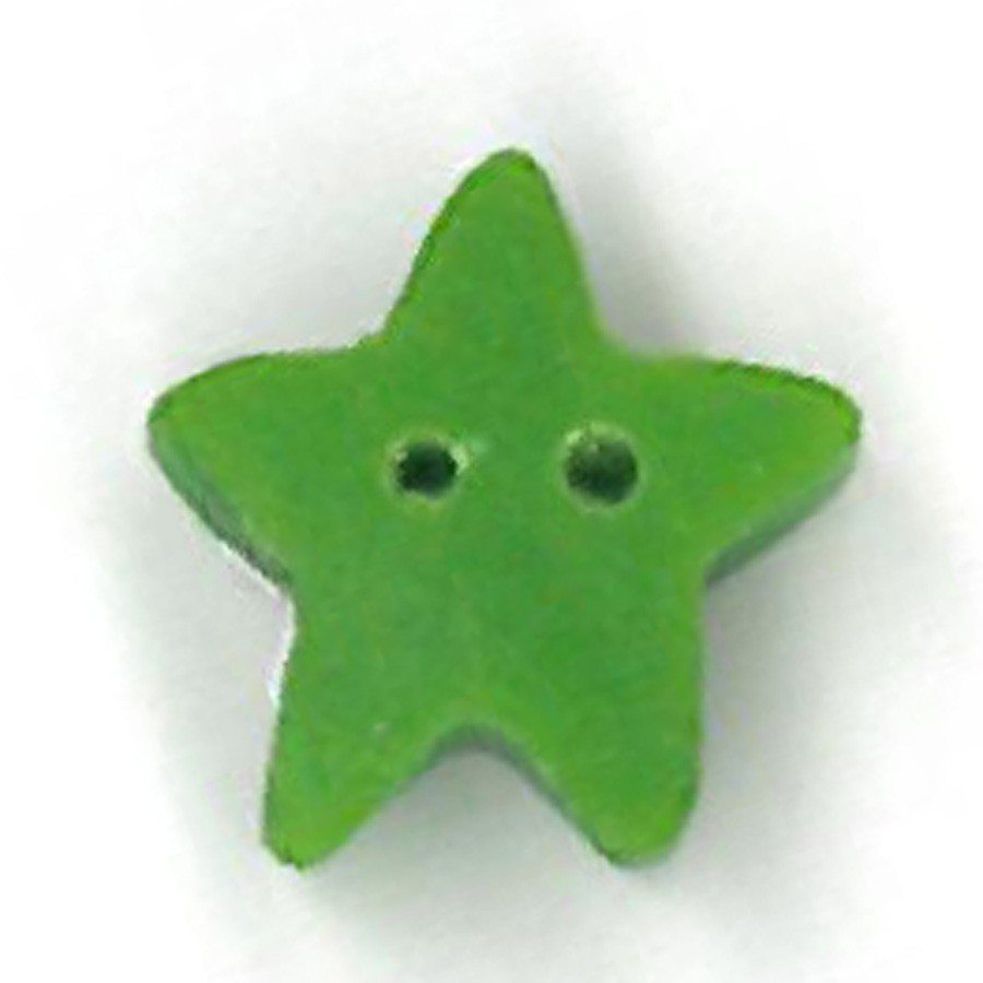 small apple green star