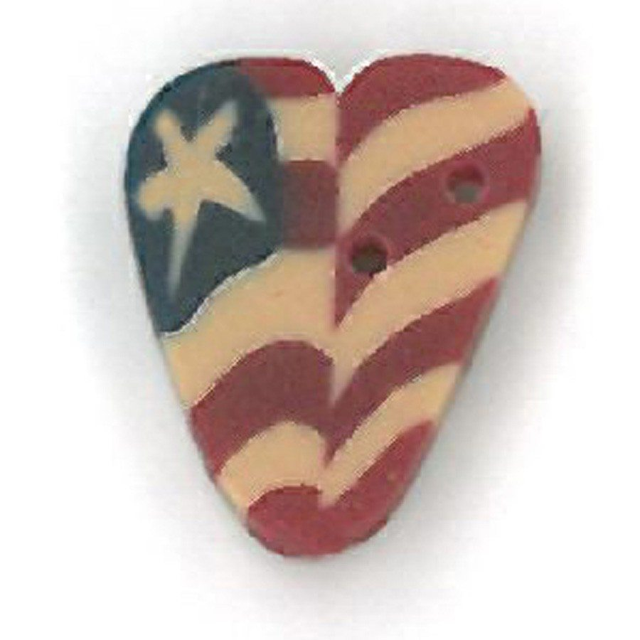 small folk art liberty heart