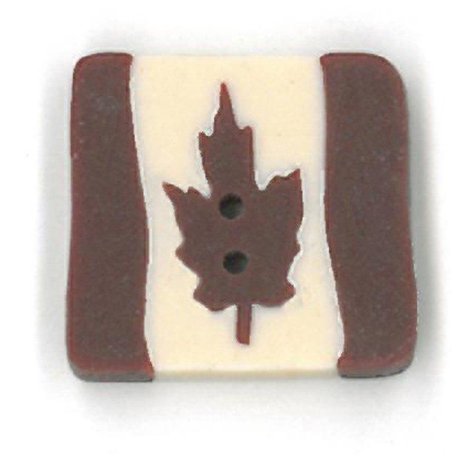 small square folk art Canadian flag
