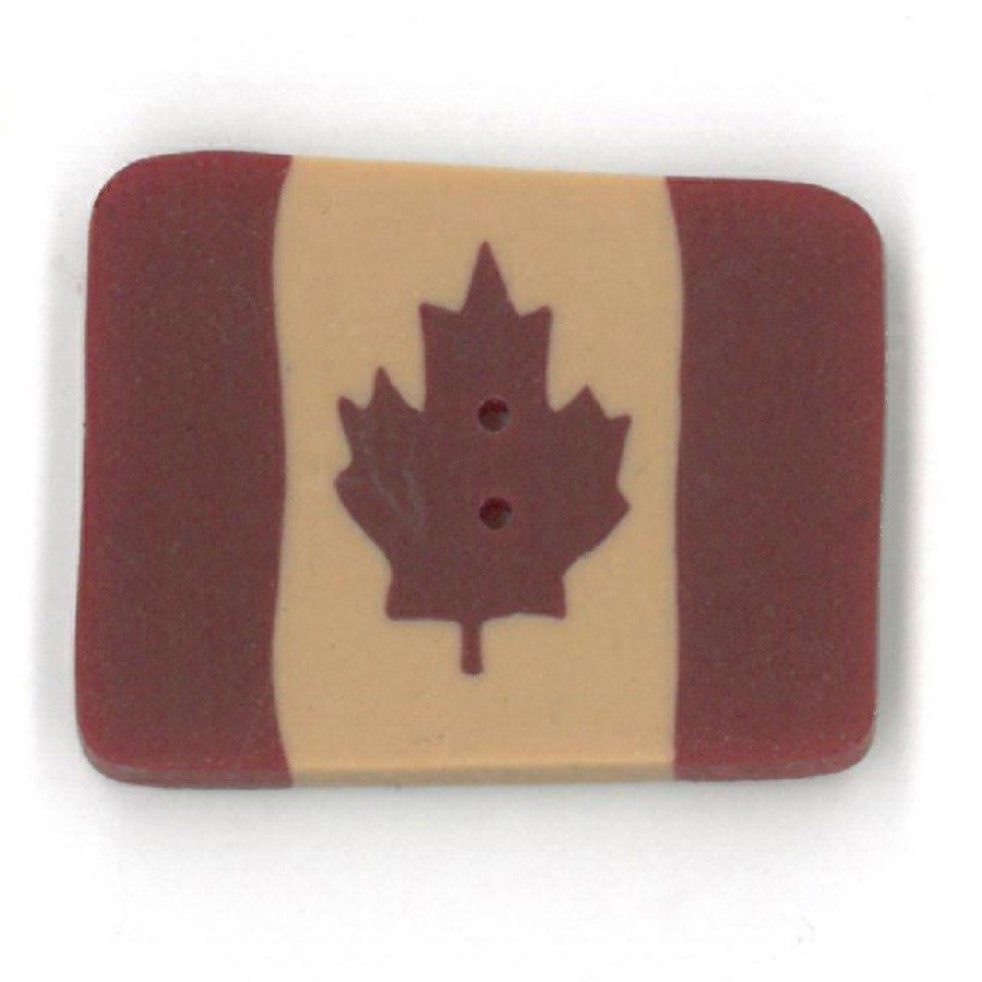 small folk art Canadian flag