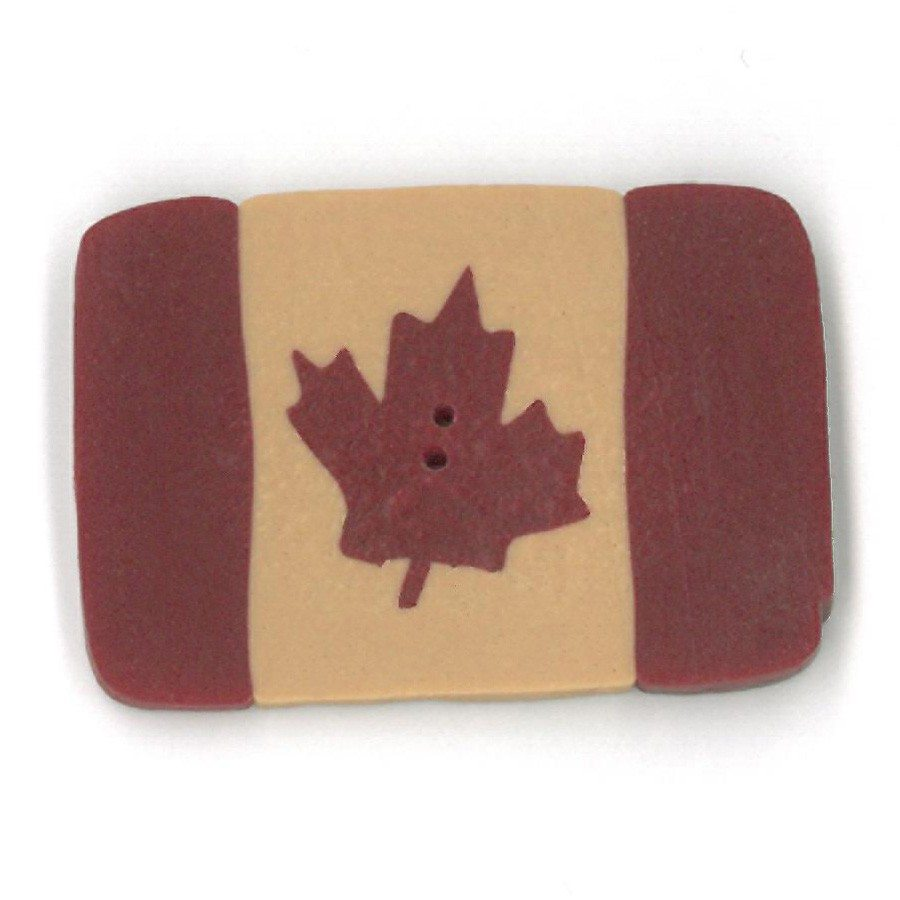 extra large folk art Canadian flag