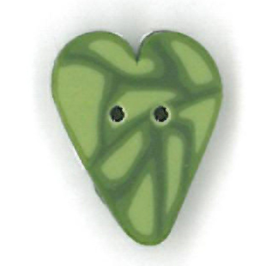 small sage green velvet heart