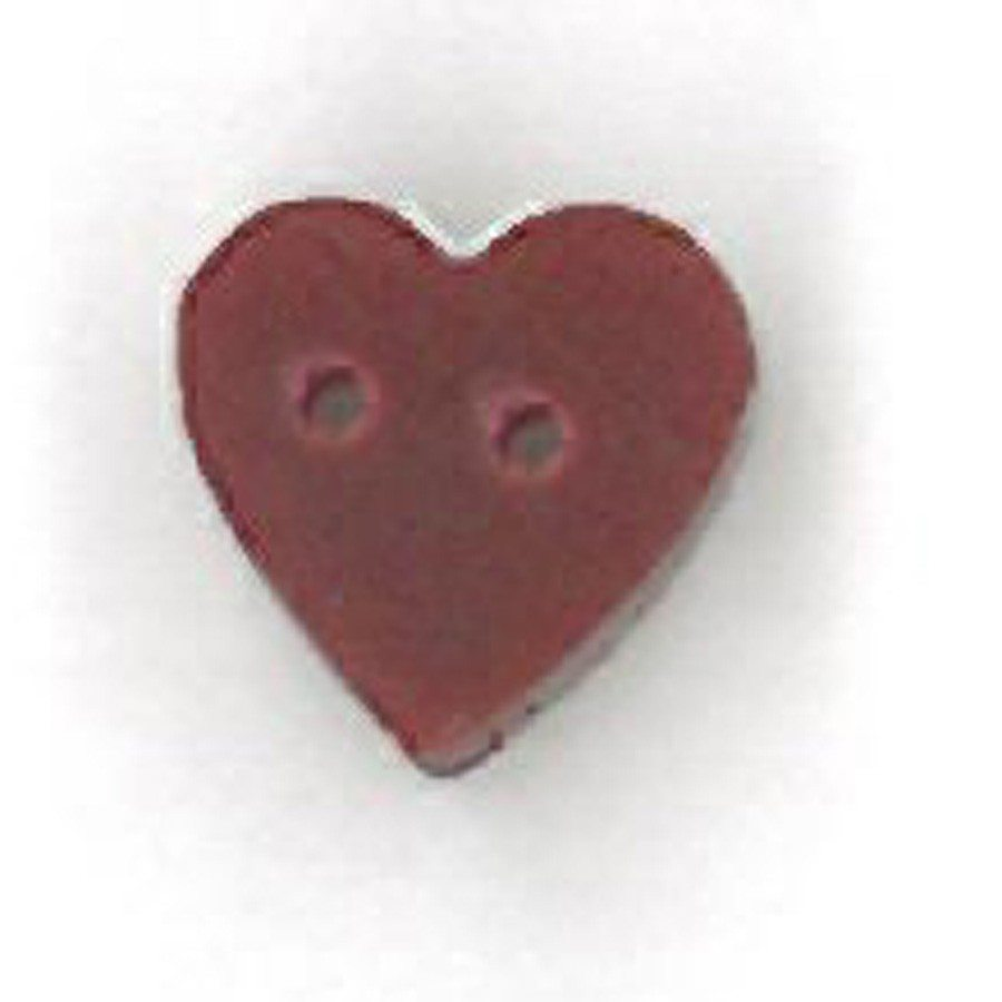tiny folk art red heart