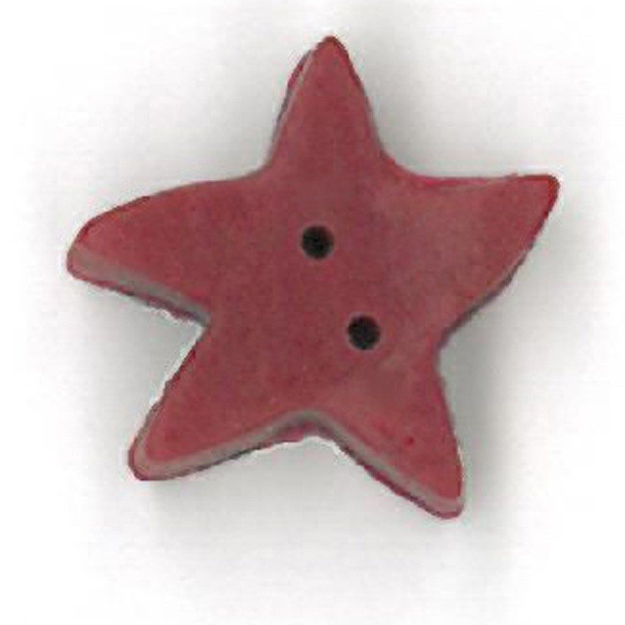 medium folk art red star