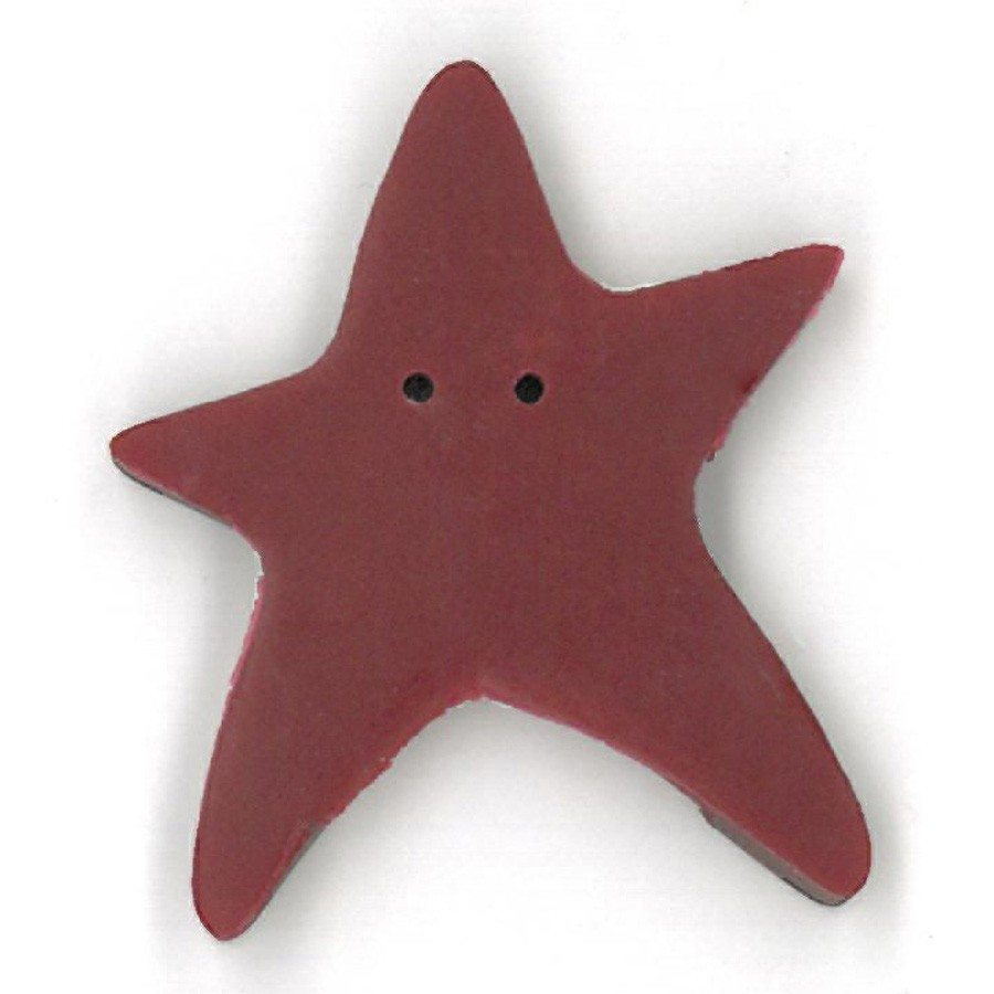 extra large folk art red star