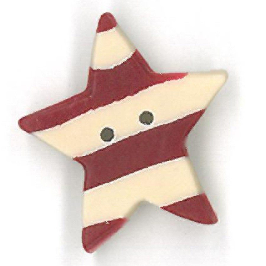 red striped star