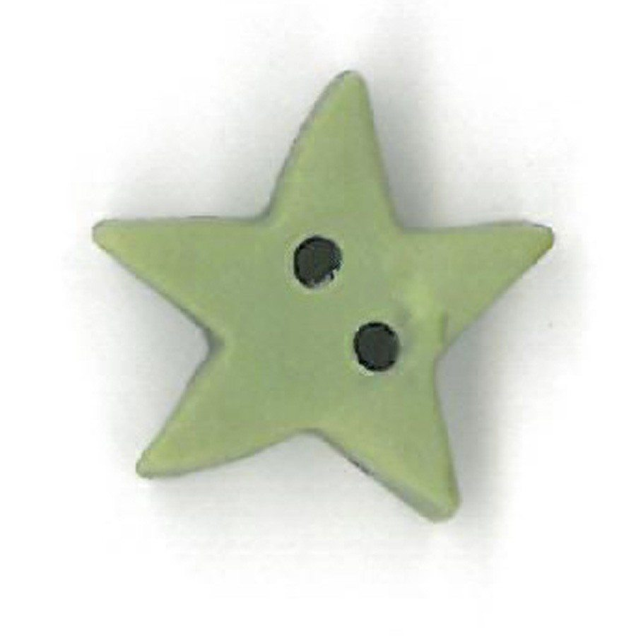 medium pale sage star