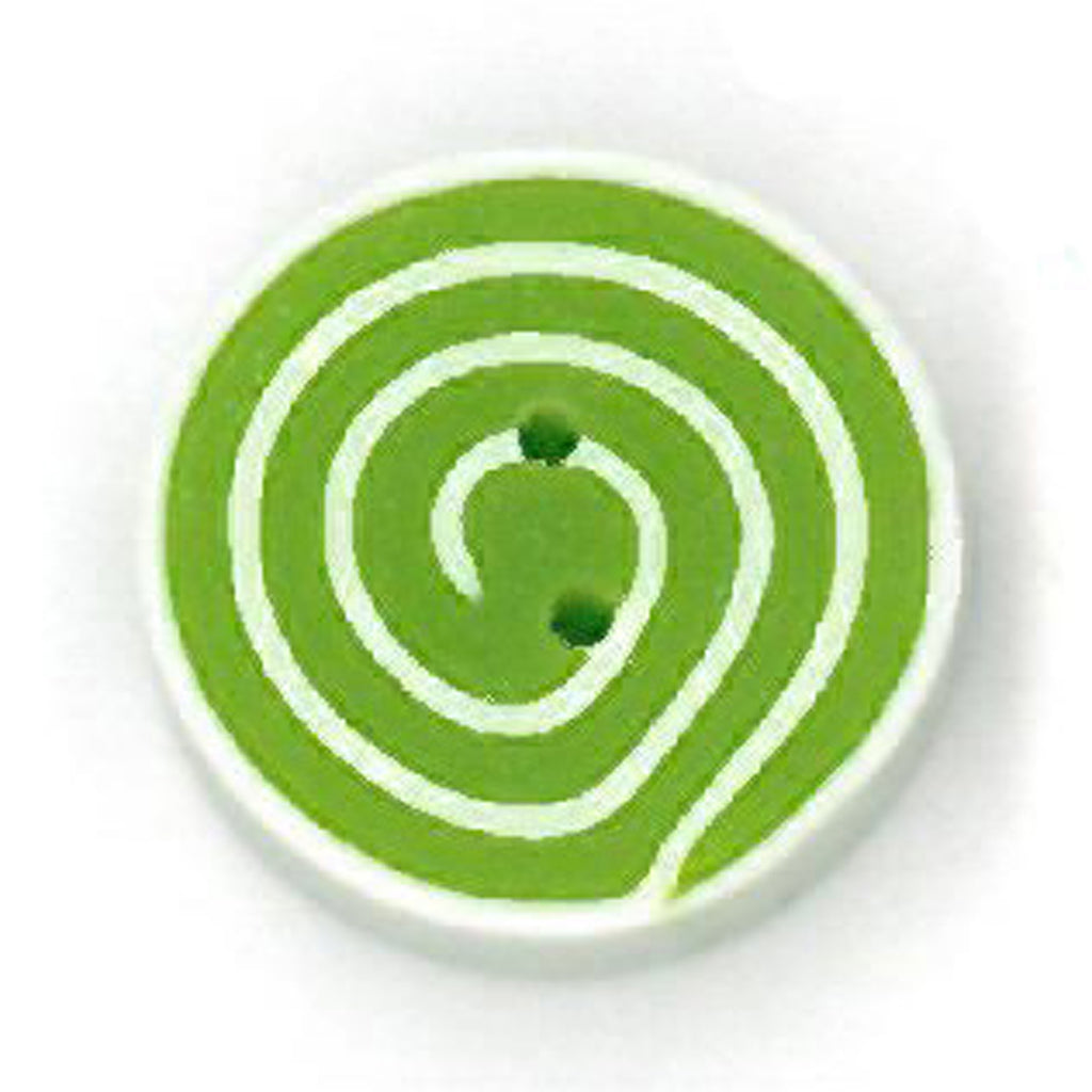 tiny lime & white swirl