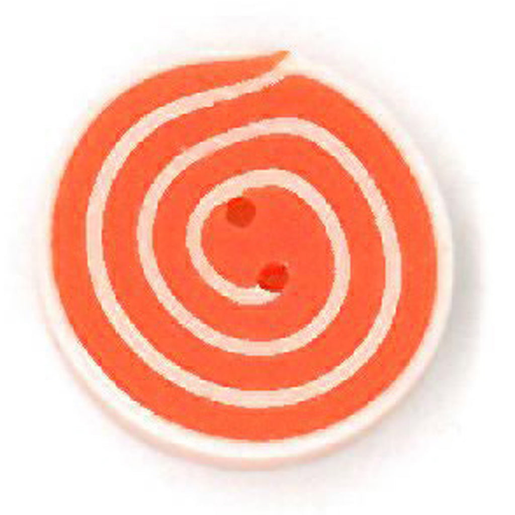 tiny orange & white swirl