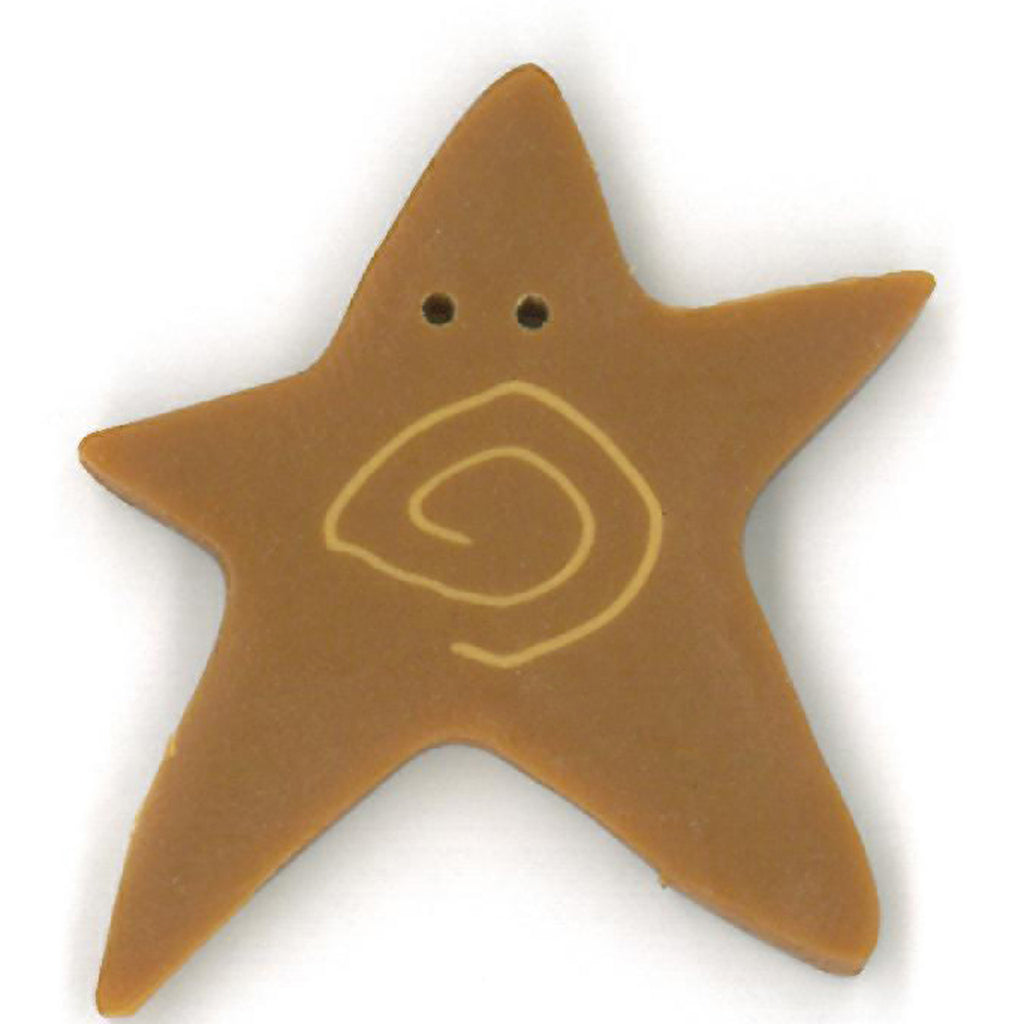 extra large tarnished gold swirly star