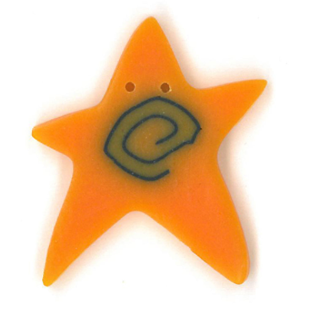 extra large orange swirly star