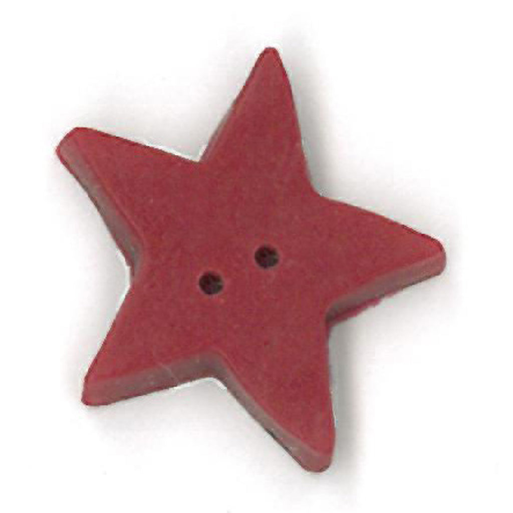 large folk art red flat star