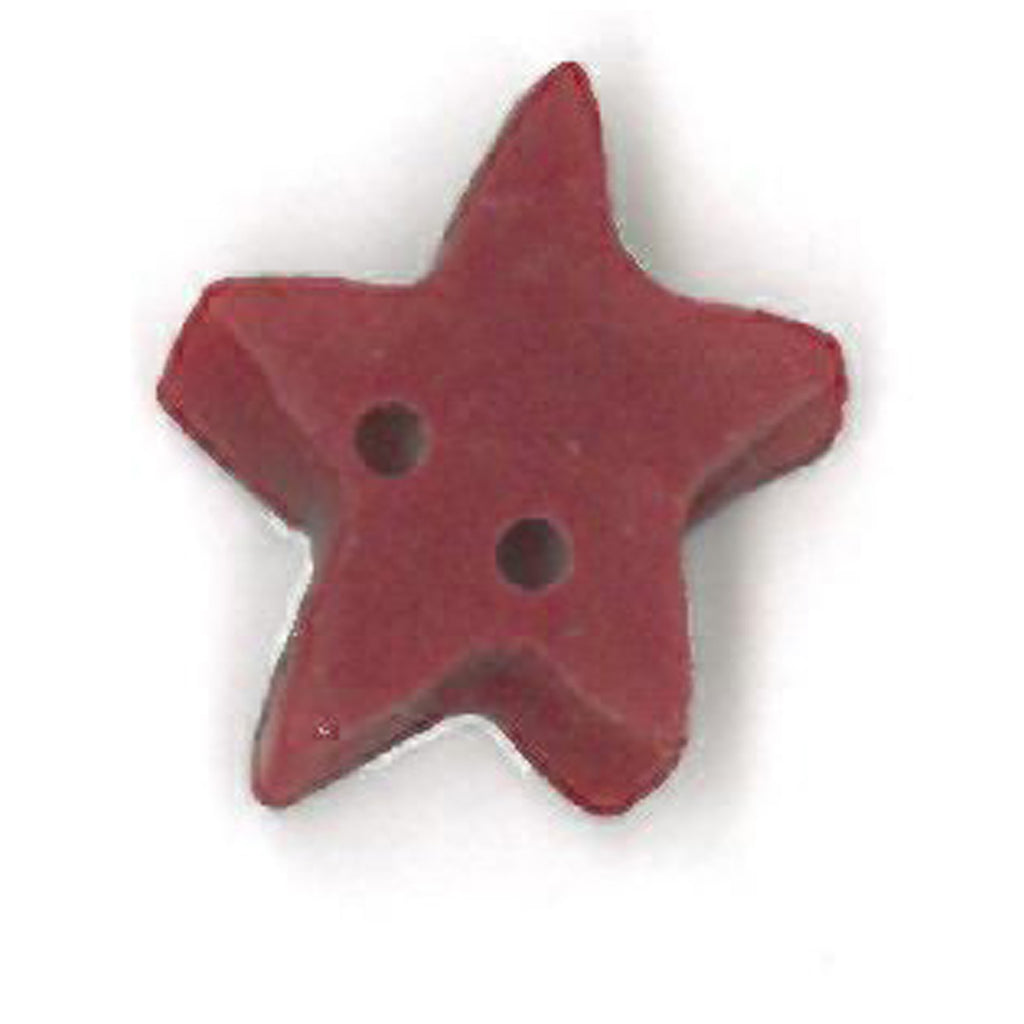 small folk art red flat star