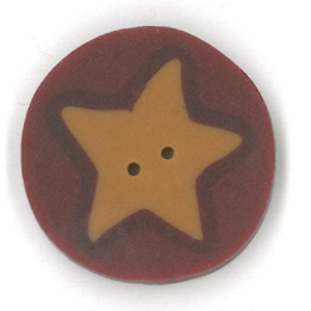 medium gold star on red