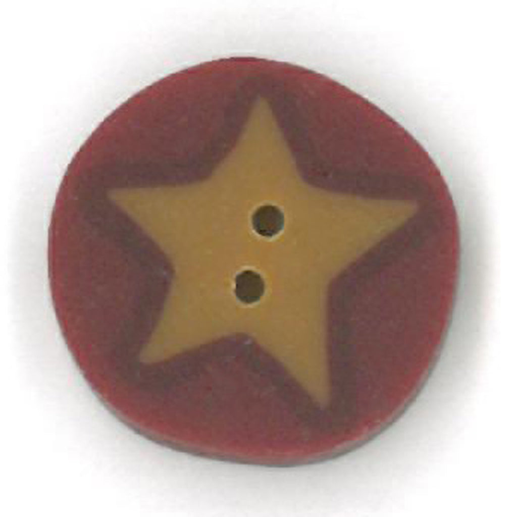 small gold star on red