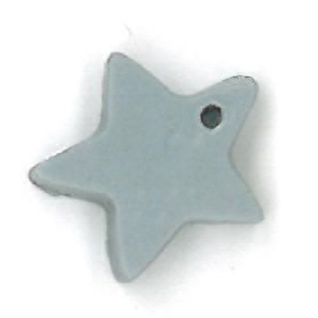 small pale blue star charm