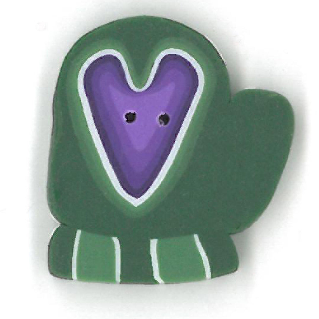 large green mitten with heart