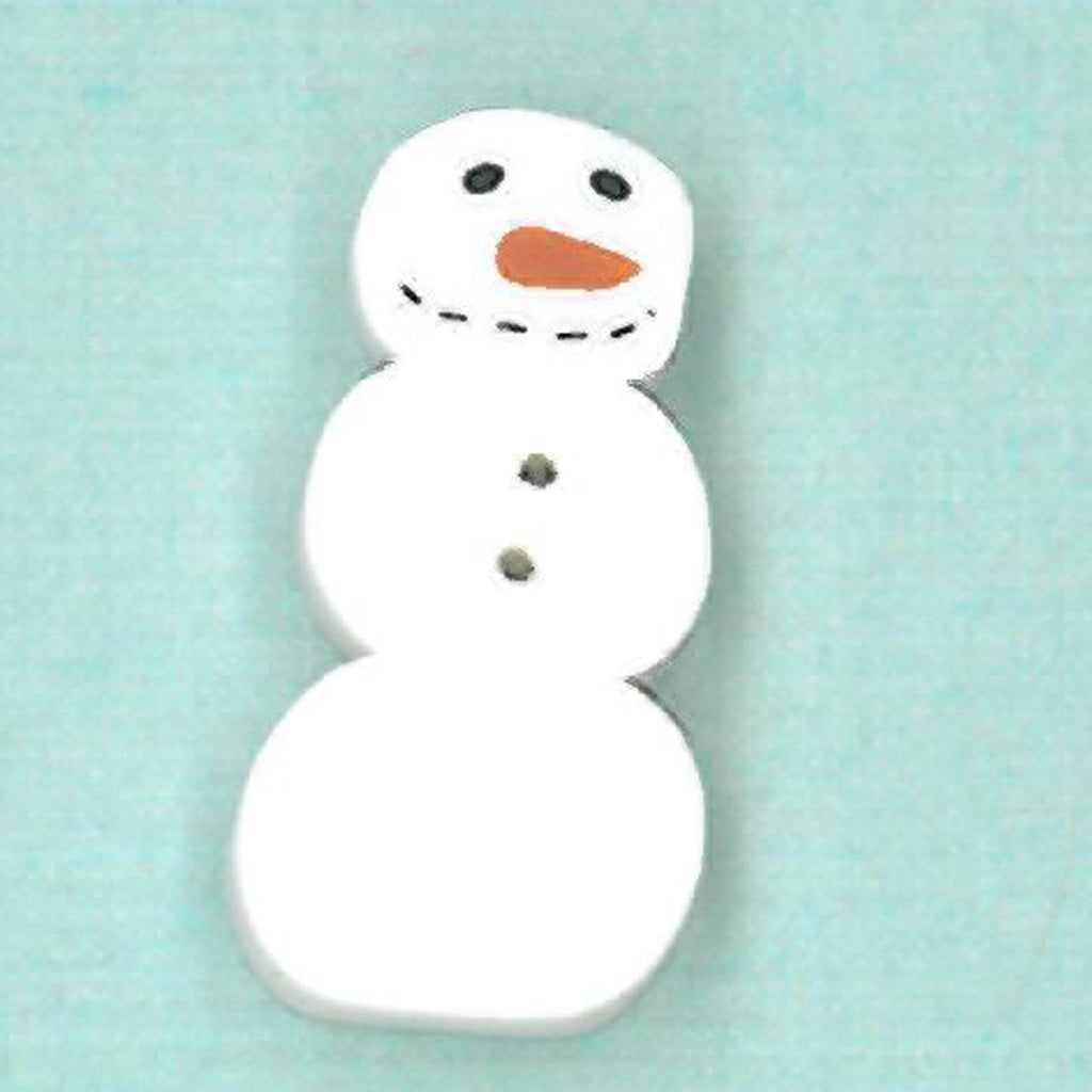 small primitive snowman