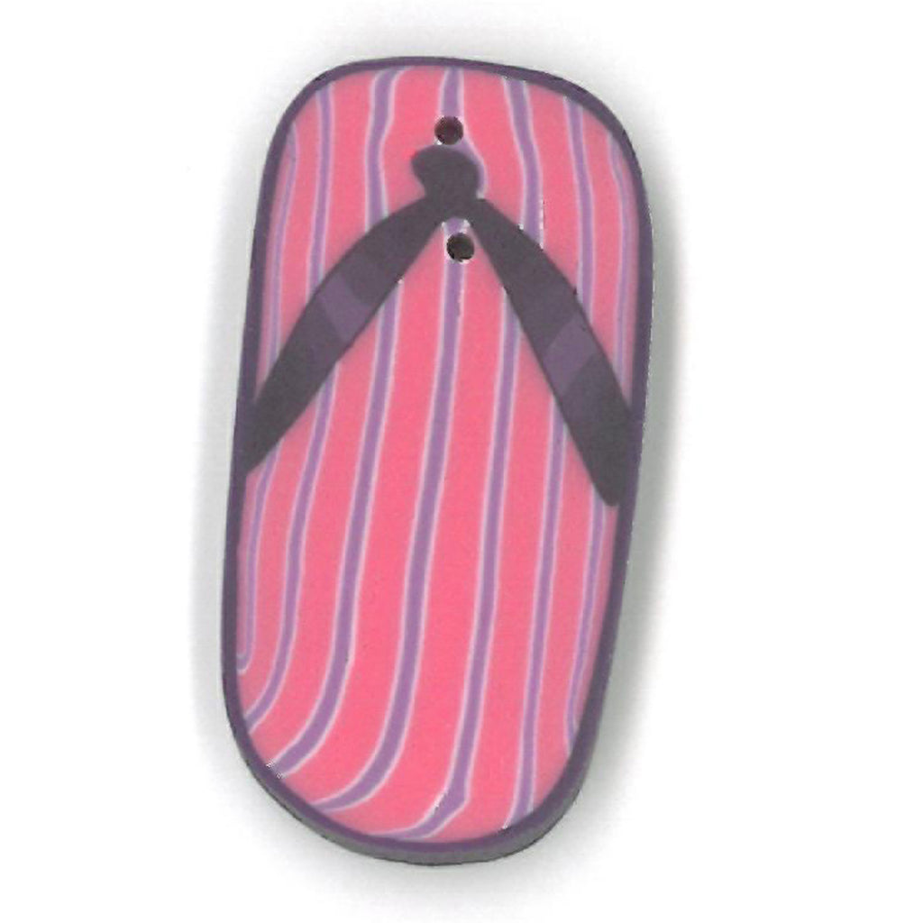 large purple flip-flop