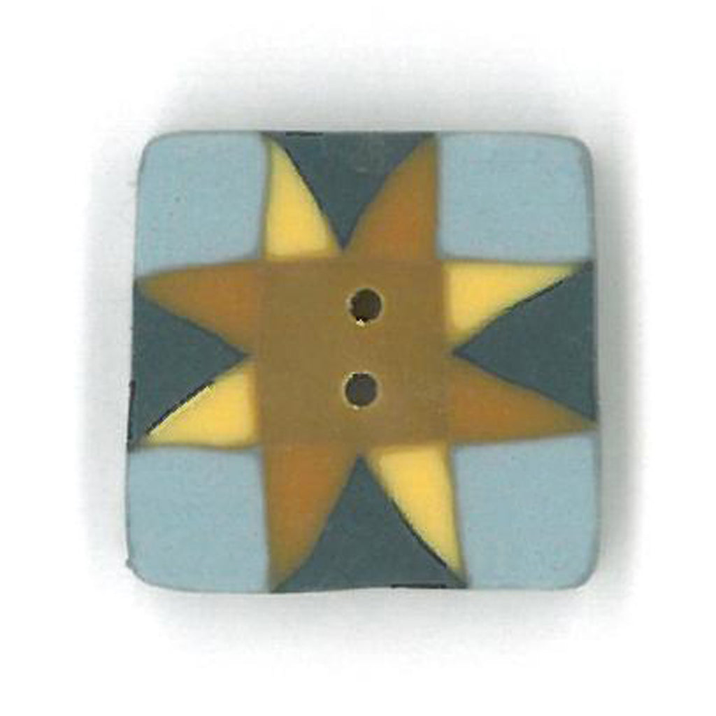 small gold/blue quilted star