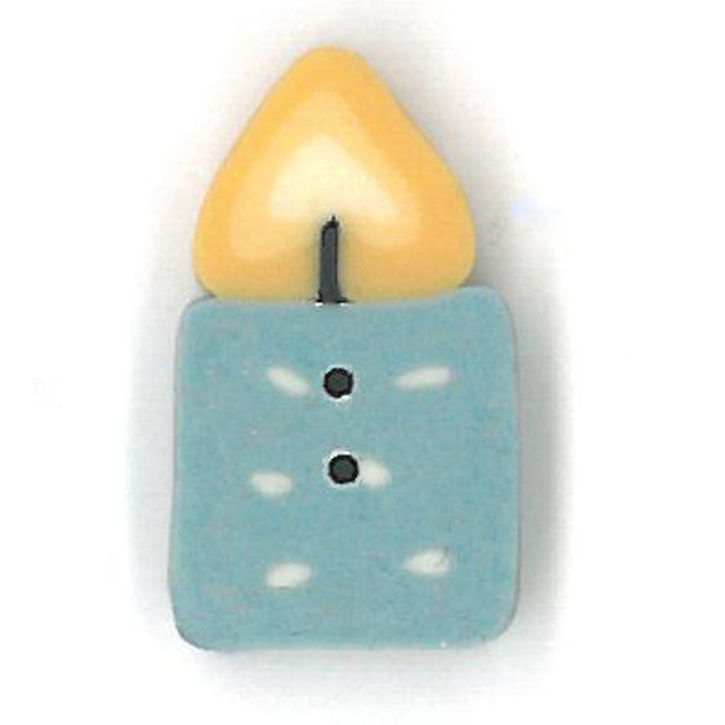 frosty blue birthday candle