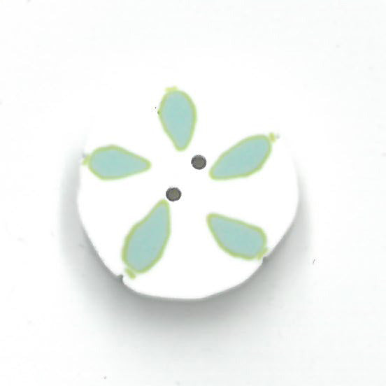 medium sand dollar (white/aqua)