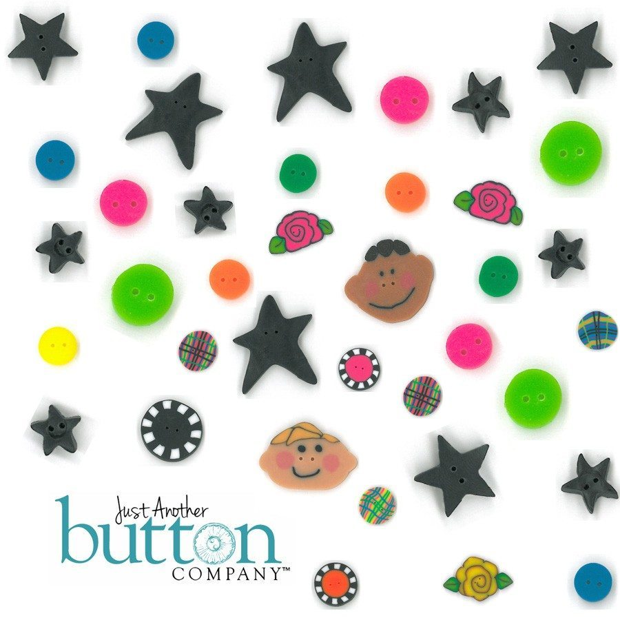 Just Another Button Company bright kp buttons