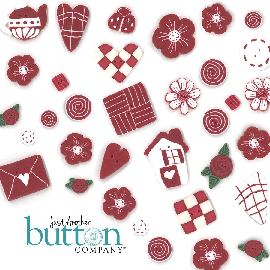 Red & White BUTTONS (includes free chart)