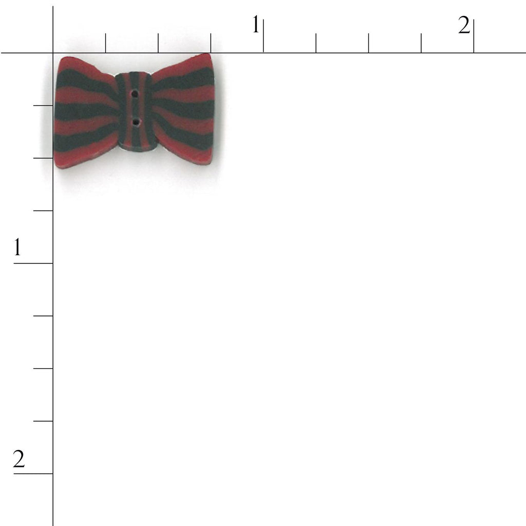 red stripe bow tie