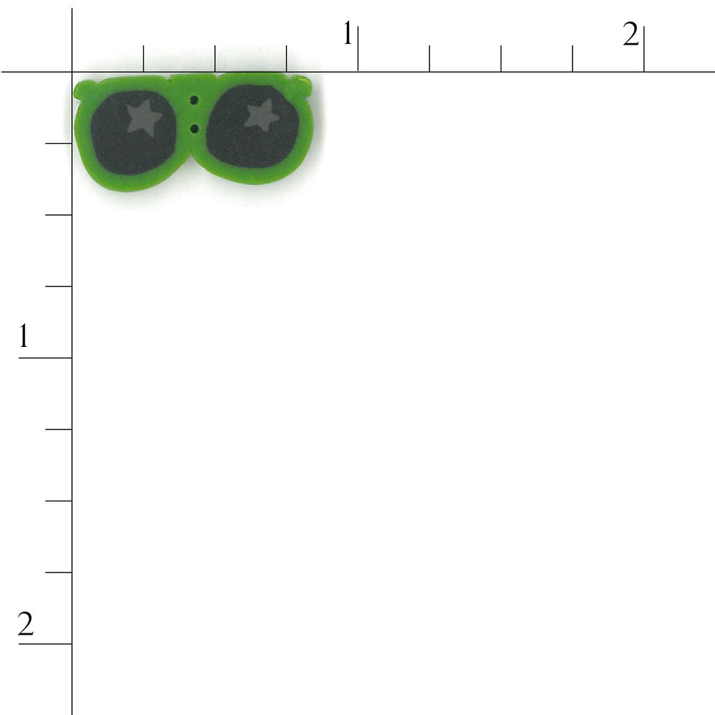 small green sunglasses