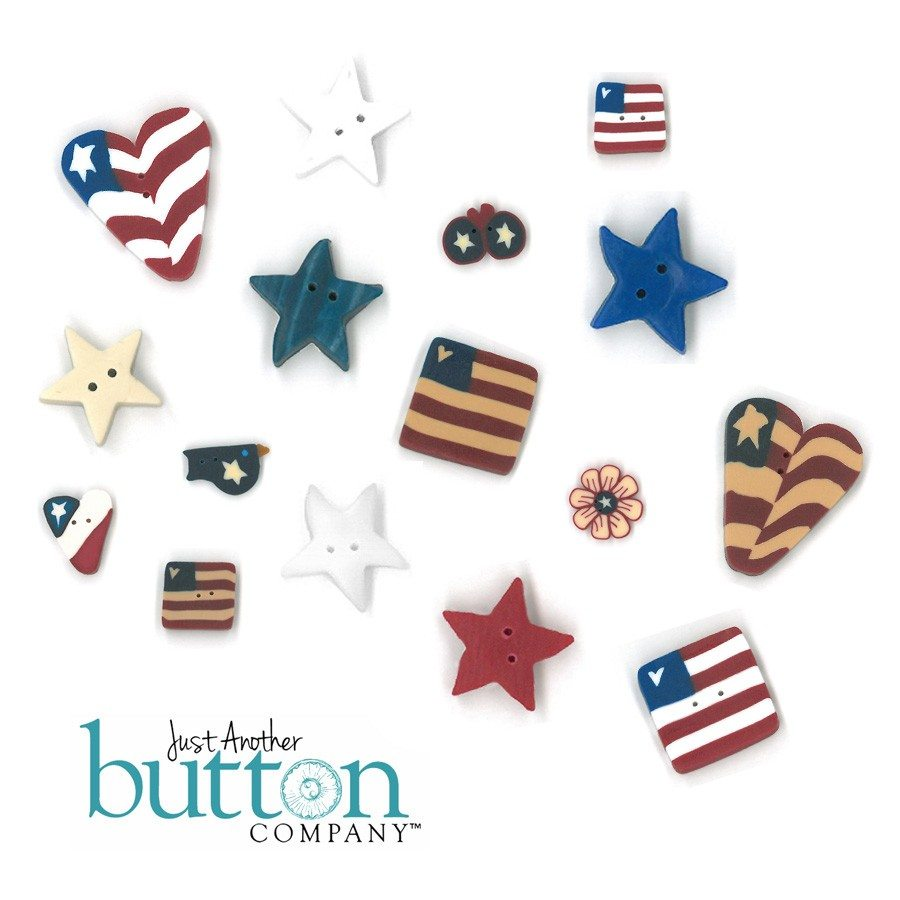 Just Another Button Company Button Pack for Bits N Pieces Americana Bracelet