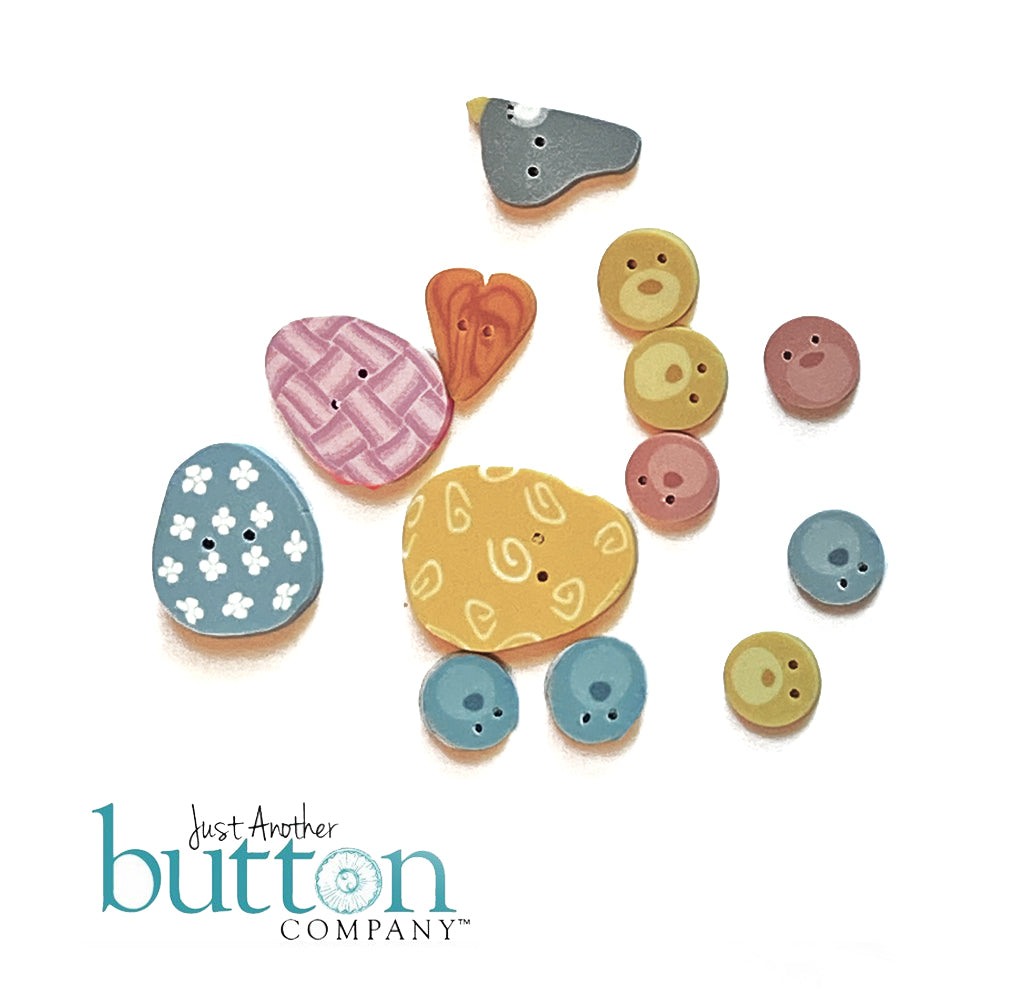 Just Another Button Company Hare Line Button Pack