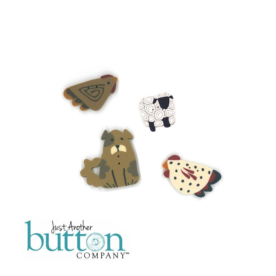 Just Another Button Company button pack for patchabilities Barnyard