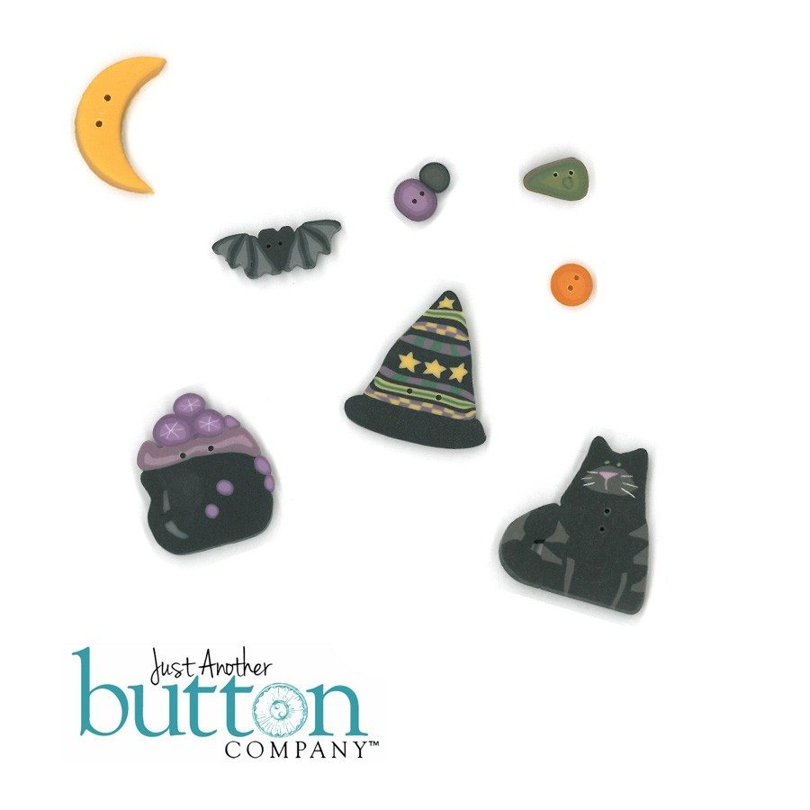 Just Another Button Company Spooky Fence Button Pack