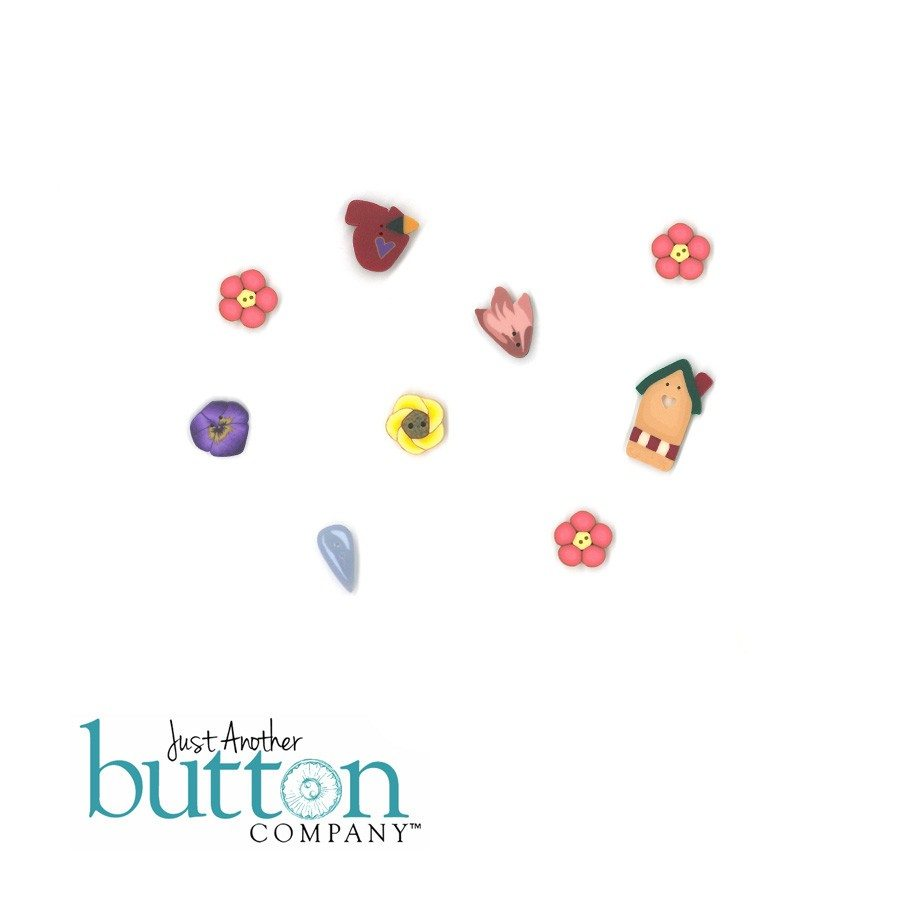 Just Another Button Company Garden Fence Button Pack