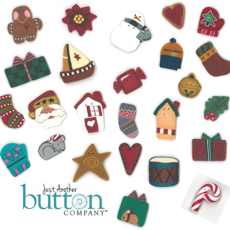 Just Another Button Company Button pack for suzanne's art house christmas tree countdown