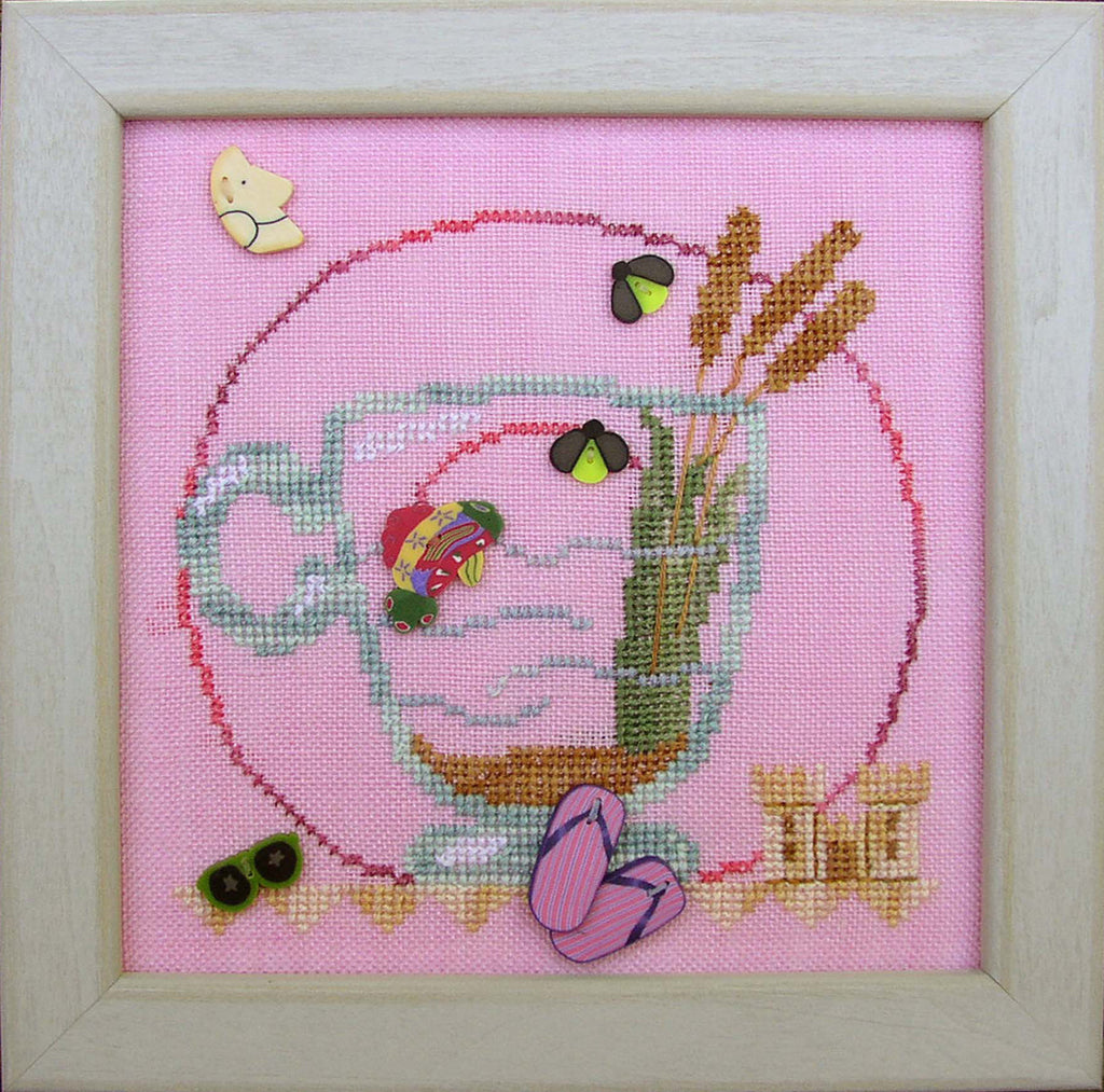 JABC - Cross Stitch Patterns -  Cup O' Tea August