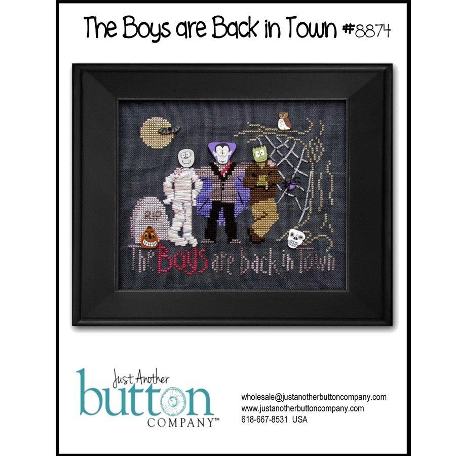 Boys are Back in Town (cross stitch)