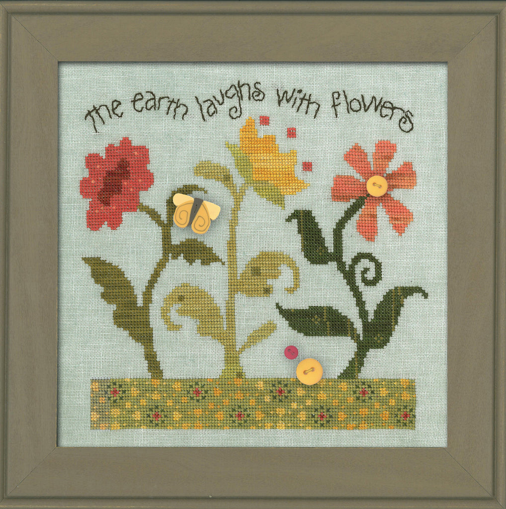 JABC - Cross Stitch Patterns - Laugh With Flowers