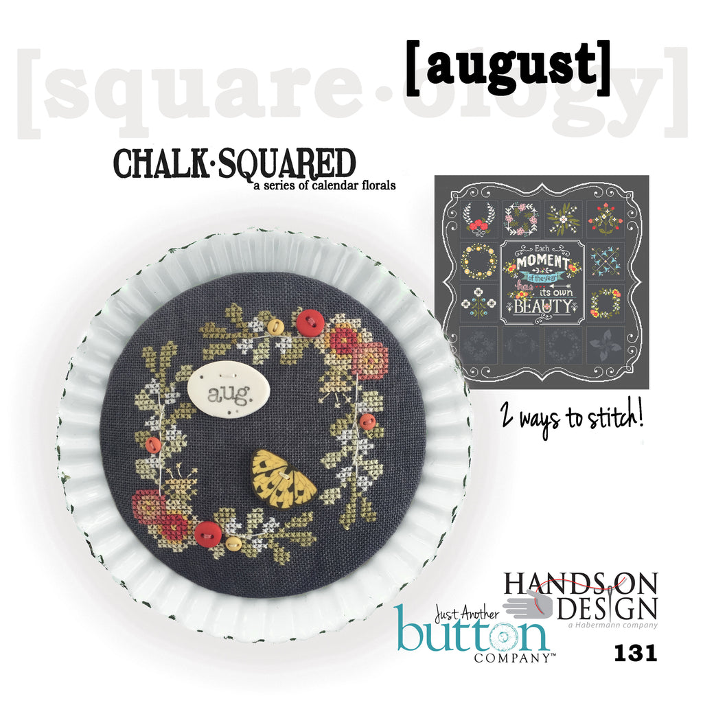 JABC - Cross Stitch Patterns - Chalk Squared August