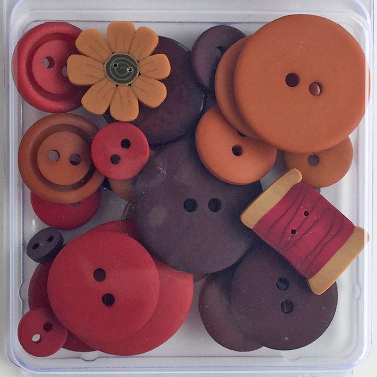 Just Another Button Company button pack autumn spice