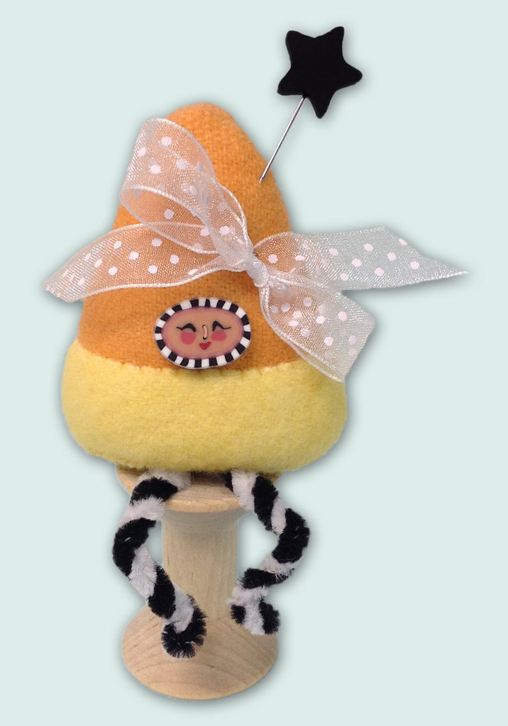 Candy Corn Pixie Spoolkeep Pattern PDF