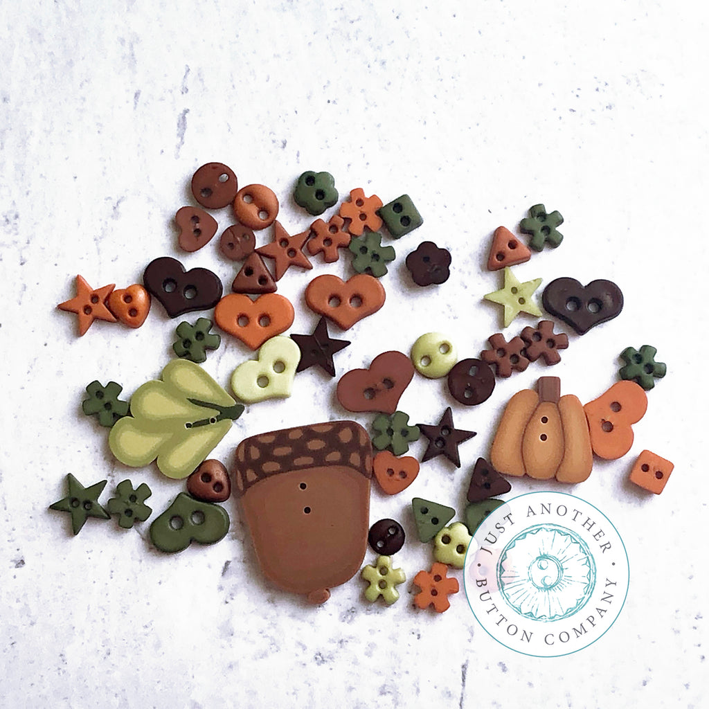 Fall Acorn Mix - Just-for-Fun Button Collection
